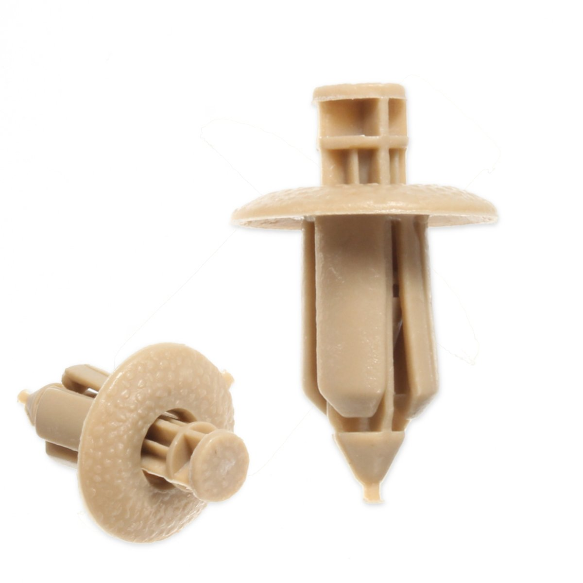 10pcs Plastic Rivet Trim Panel Car Fastener Clip Door Beige For VOLVO C70/S60/S80/V70