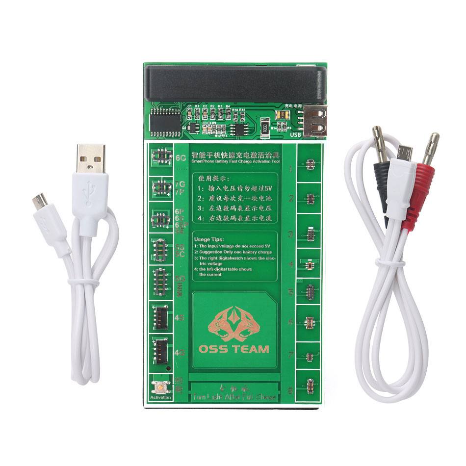 W209A Phone Battery Fast Charging and Activation Board for iPhone 7 7Plus 6 6s 5 5s for China Smartphone Repair Tool