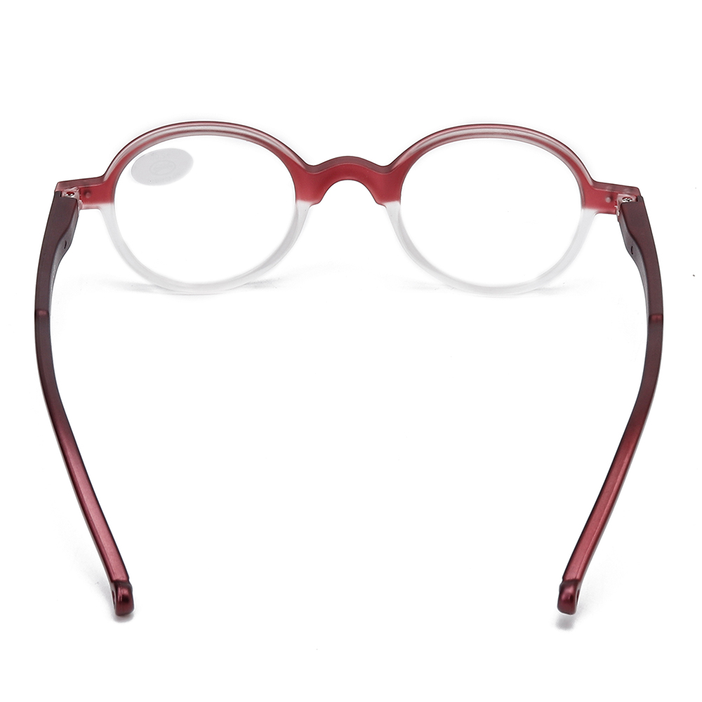 Unisex Fashion Plastic Round Small Frame Farsighted Glasses
