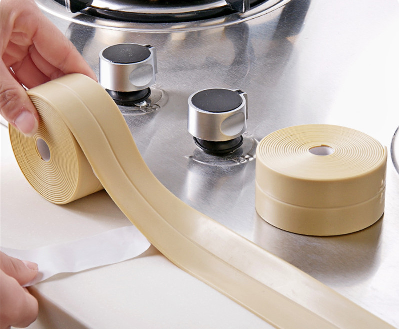 Honana 3.8mm Kitchen Bathroom Self Adhesive Wall Seal Ring Tape Waterproof Tape Mold Proof Edge Trim Tape Accessory