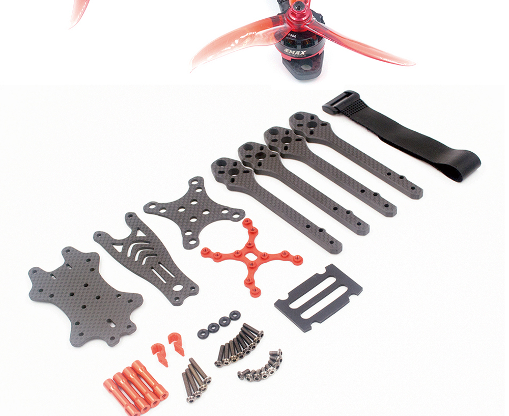 ALFA Monster 6mm Carbon Fiber 5/6/7inch FPV Freestyle Stretch X Quadcopter Frame Kit for RC Drone - Photo: 11