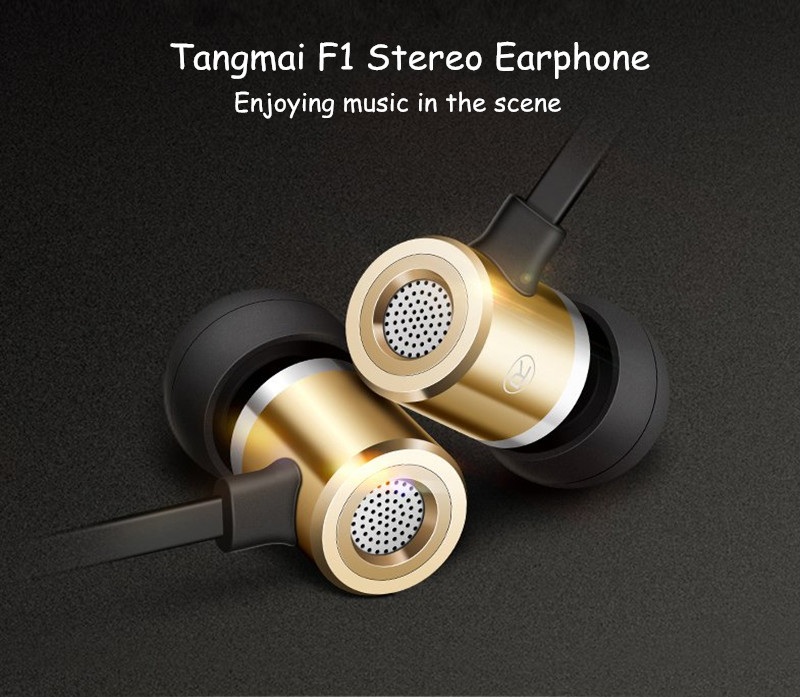 Tangmai F1 Outdoor Hi-Fi Music In-ear Earphone Headphone with Mic for Samsung S8 iPhone X Cellphone