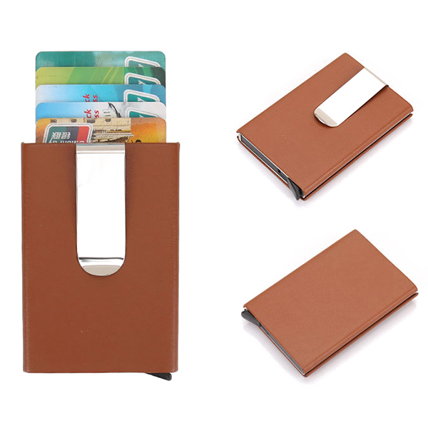RFID Blocking Secure Card Case Business Credit Card Holder