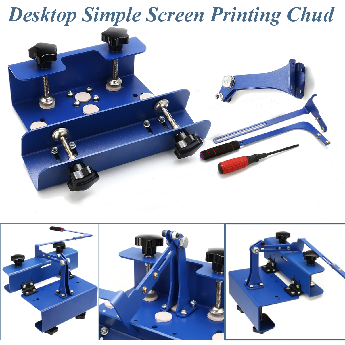 Desktop Simple Silk Screen Printing Chuck T-shirt Printer Head DIY Tool