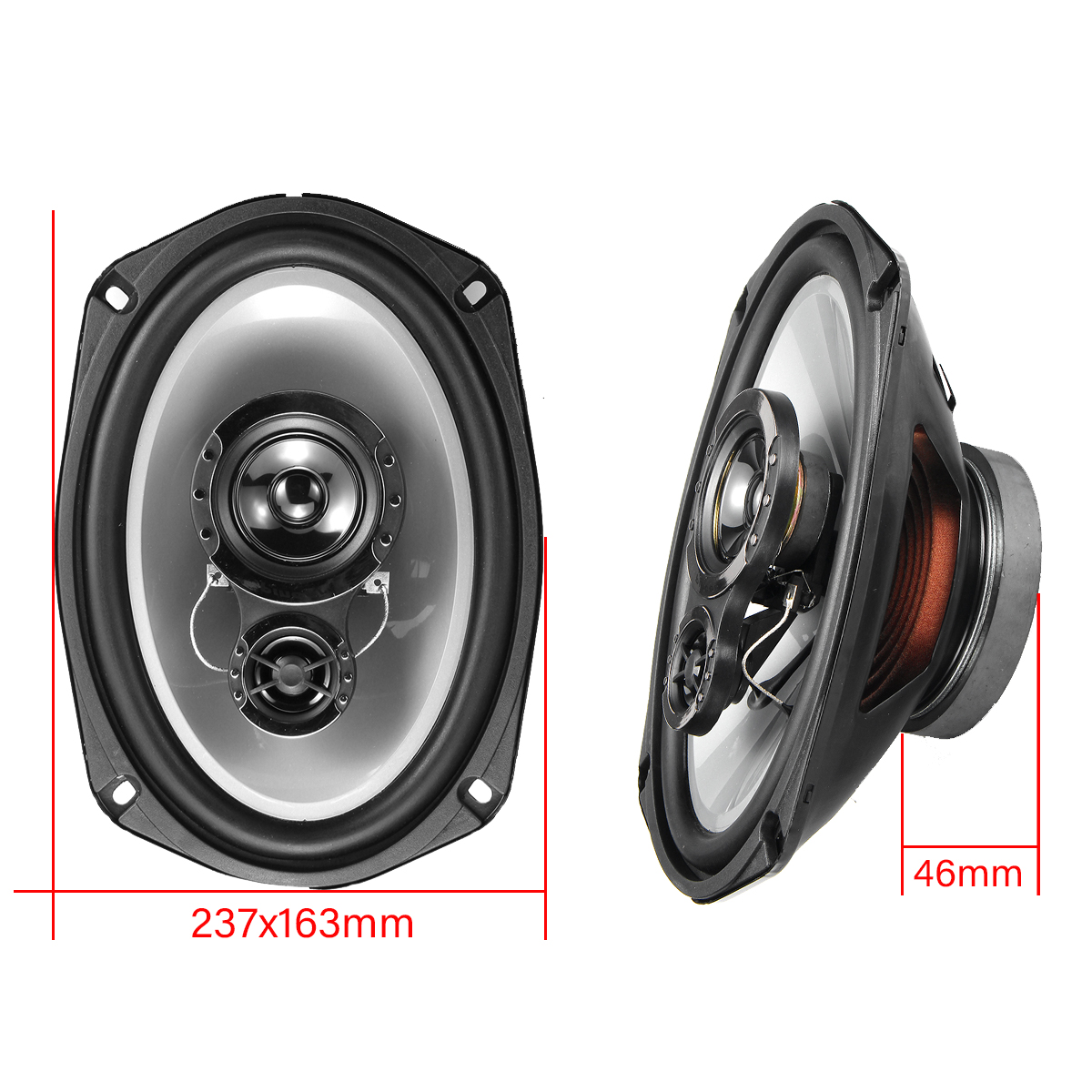TS-A6941R 1000W Pair High Sensitivity Coaxial Speaker Car Speaker
