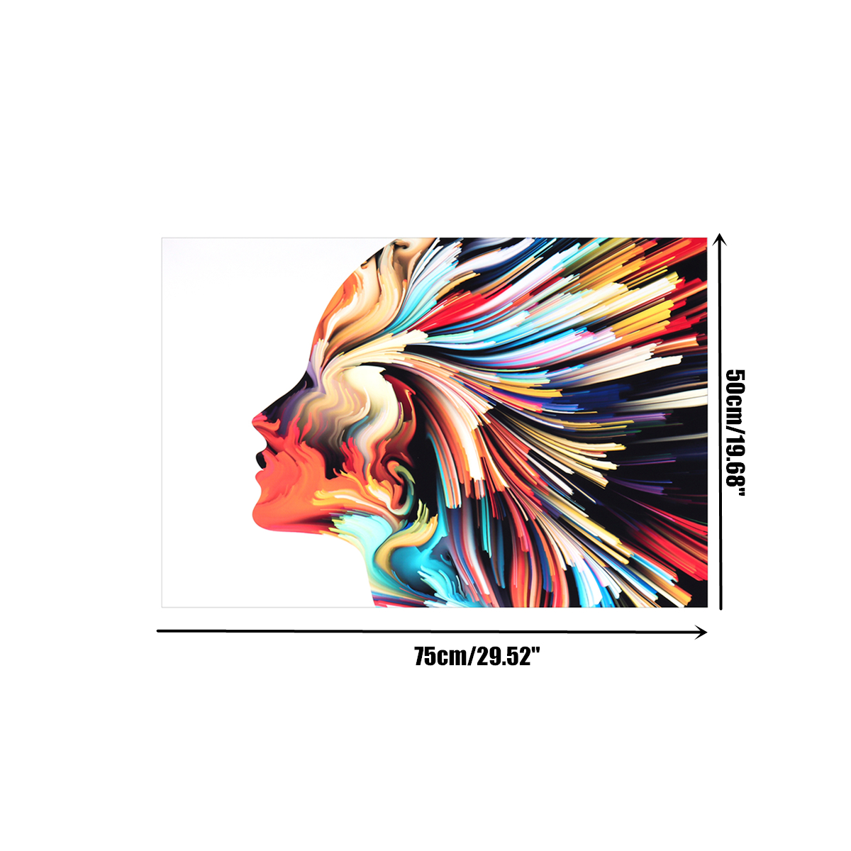 Canvas Girl Face Paintings Wall Art Pictures HD Prints Watercolor Abstract Posters Living Room Decor Frame