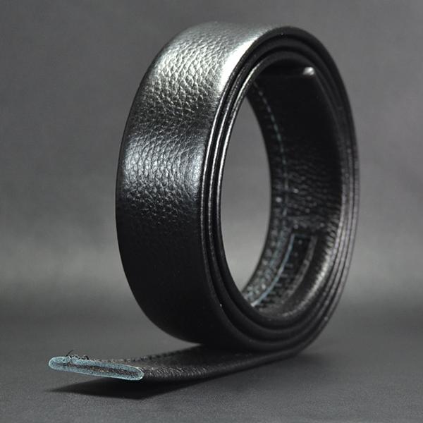 125-130CM Men Business Genuine Leather Belt Casual Automatic Buckle Waistband Belt