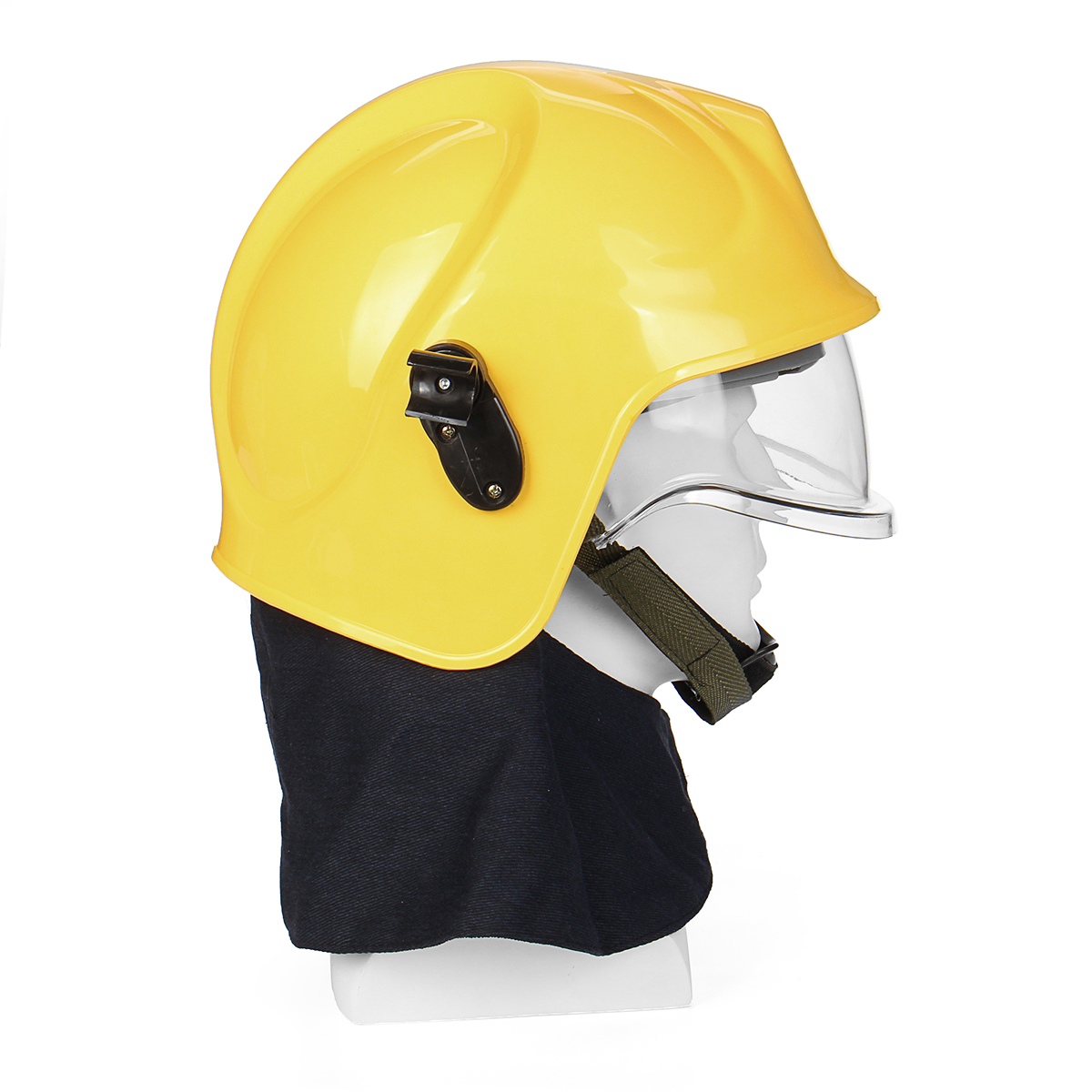 Red Yellow Pro Rescue Helmet Fire Fighter Protective Ultra Safety Head Protector