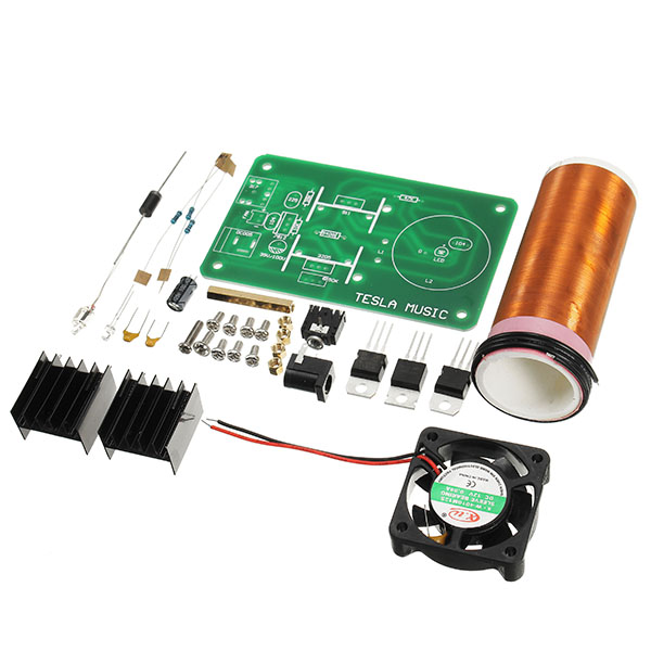 Integrated Circuits Mini Wireless Music Musical Coil Loud Speaker Tesla Power Magic Board Diy Kit Toy Jx03 Module Under 20v Heat Sink Fan
