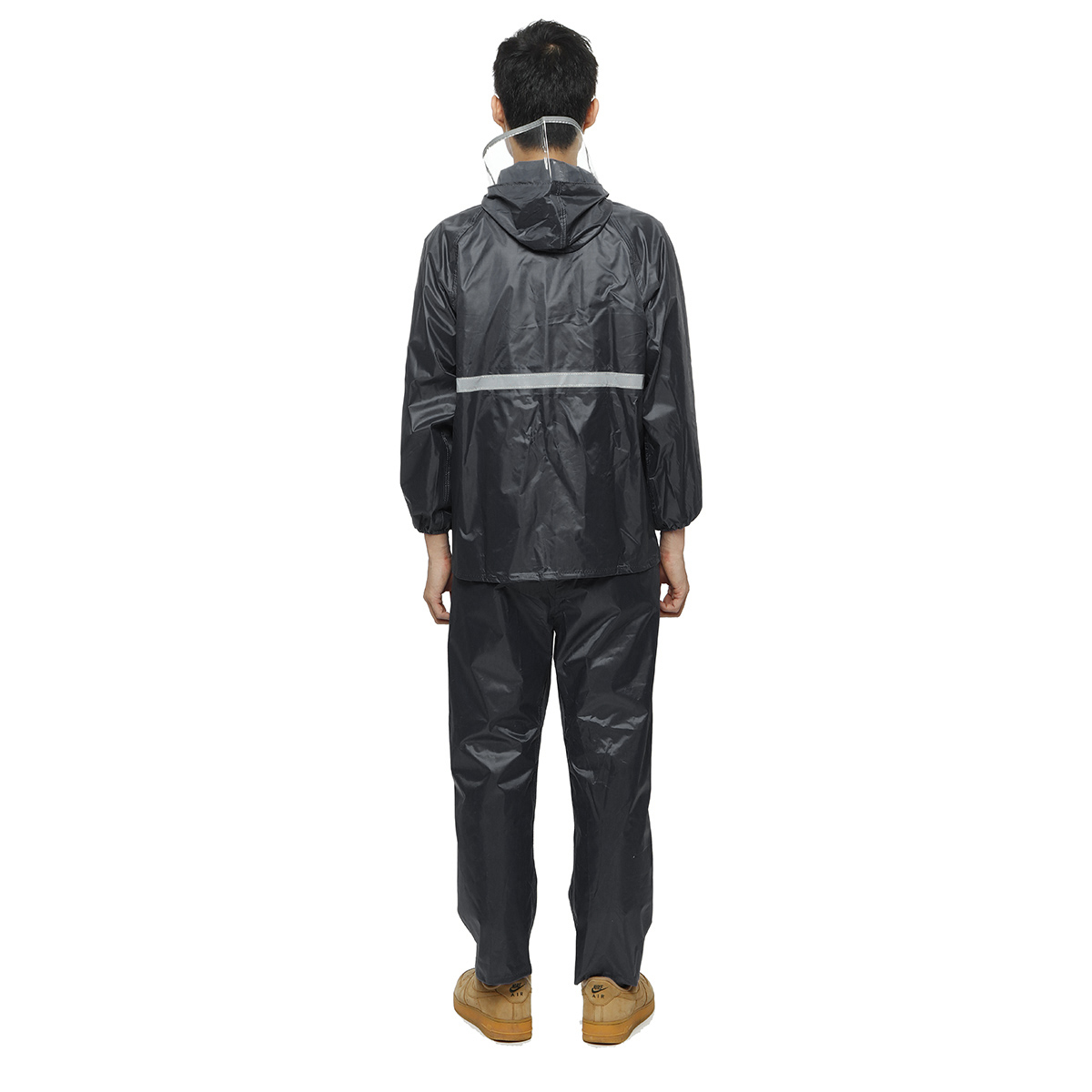 Raincoat Waterproof Hooded Rain Jacket With Pant For Men Woman Suit Farm Work Outdoor Hood Motorcycle
