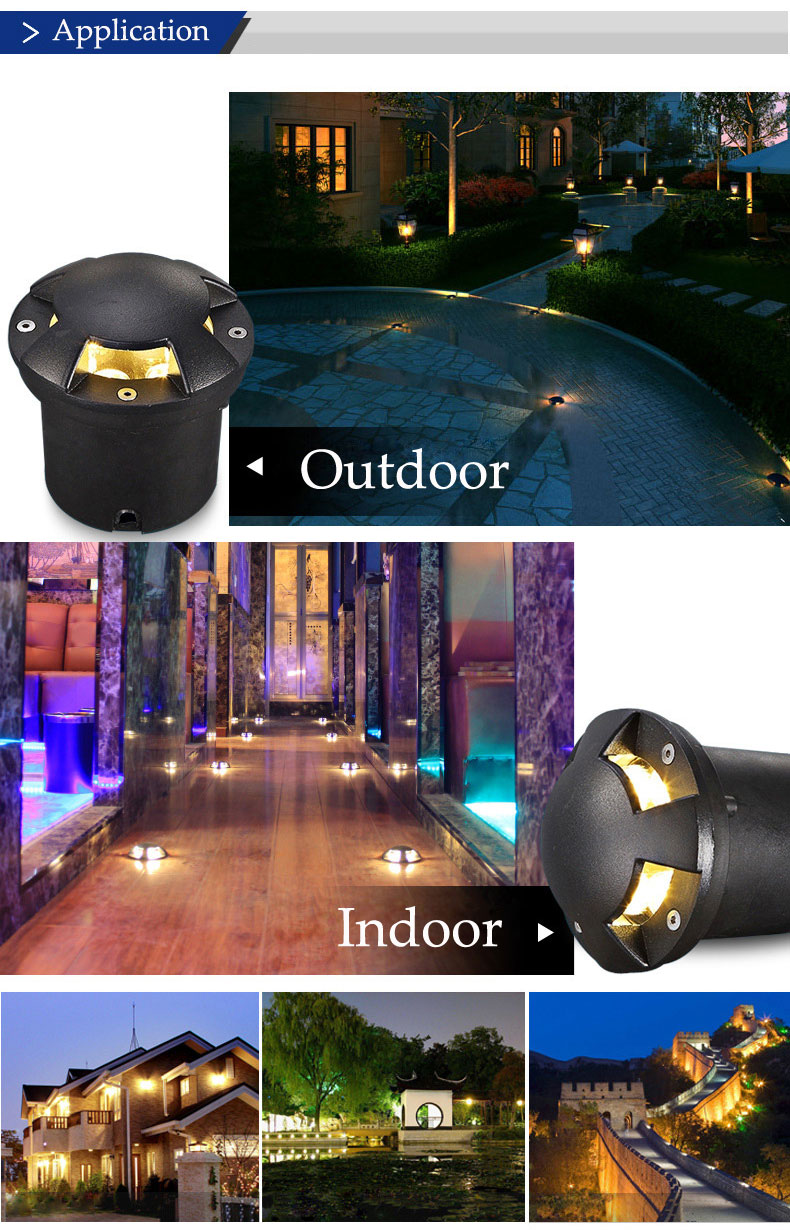 AC220V 3W 6W Garden Lawn Waterproof LED Buried Light Outdoor Lawn Underground Lamp