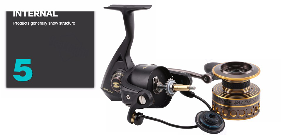 Original PENN Brand Battle II 8000 Fishing Spinning Reel 6BB Fishing Gear