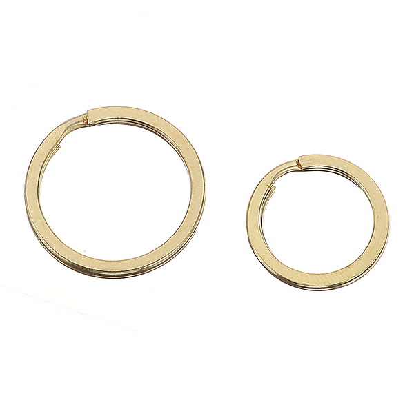 10Pcs Key O Ring Brass Pure Copper for Handmade Leather DIY Replacement