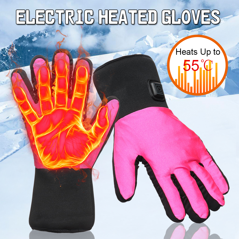 Rechargeable Motorcycle Electric Heated Gloves Battery Bike Hands Warmer