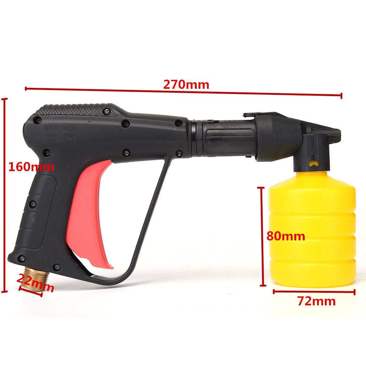 High Pressure Water Gun Snow Foam Lance Nozzle M22 Outer Wire Washing Machine For Car Cleaning
