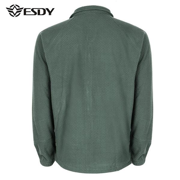 ESDY Autumn Winter Casual Outdoor Soft Fleece Coat Men Warm Squares Polar Fleece Jacket