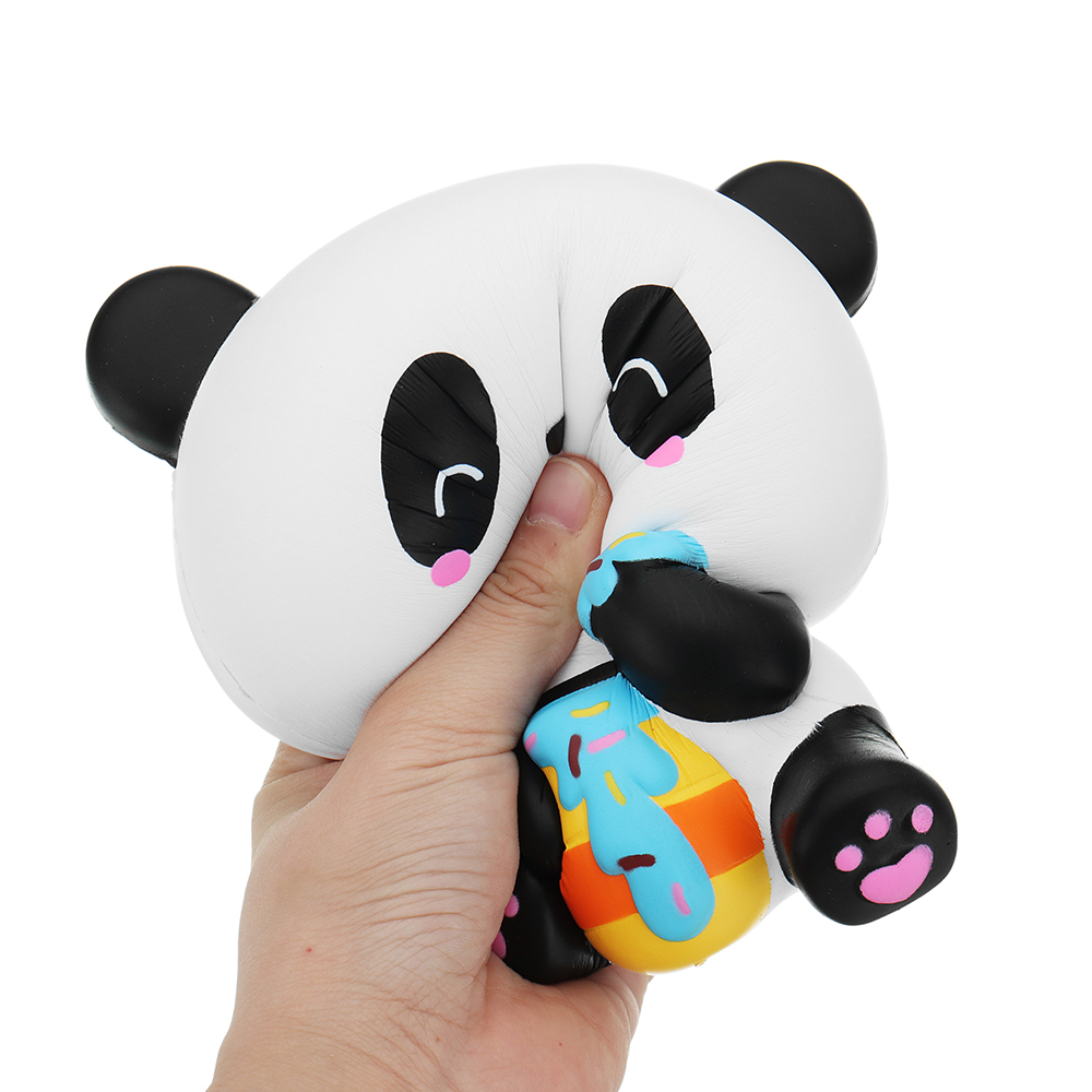 Squishy Station Panda 14.5cm Cute Slow Rising Toy Stress Relief Soft Animal Doll Gift With Packing