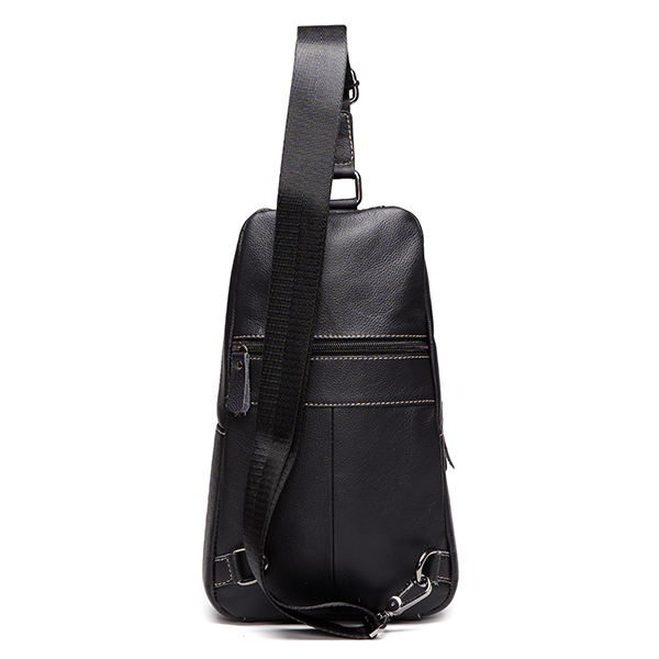 Casual Men Genuine Leather Crossbody Outdoor Sport Chest Bag