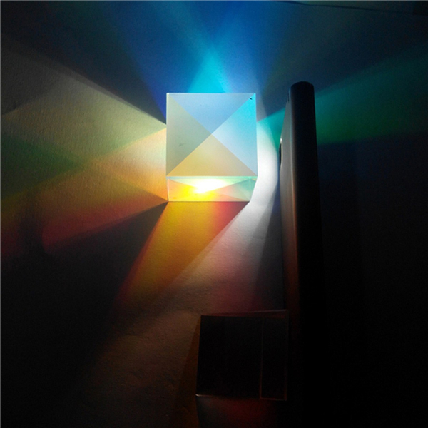 5Pcs Optical Glass RGB Dispersion Prism X-CUBE for Physics Teach Decoration Art