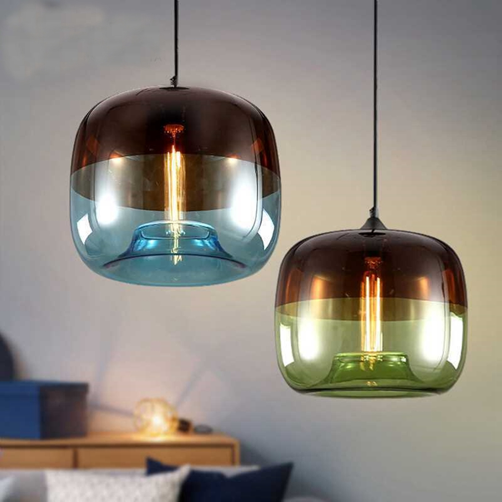 Modern Nordic Style Glass Ball Pendant Light Ceiling Chandelier Fixture Living Room Restaurant Decor
