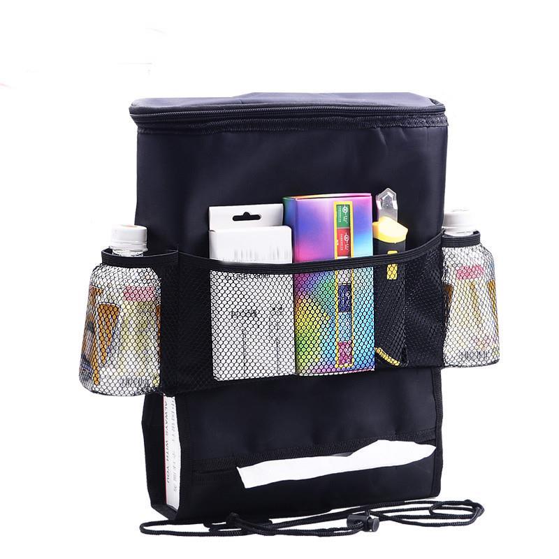 Multifunctional Car Travel Seat Back Drink Storage Color Insulation Bag Multi Pocket