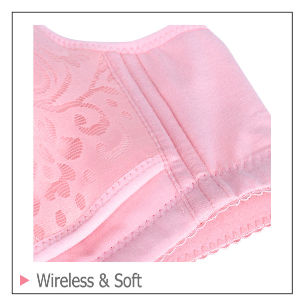 Pregnant Underwear Wireless Breastfeeding Front Closure Lace Bra