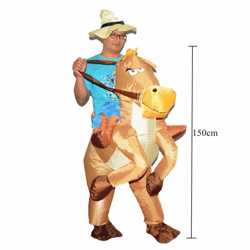 Cowboy Horse Inflatable Costume Carnival Party Fancy Animal Clothing For Adults Free Shipping