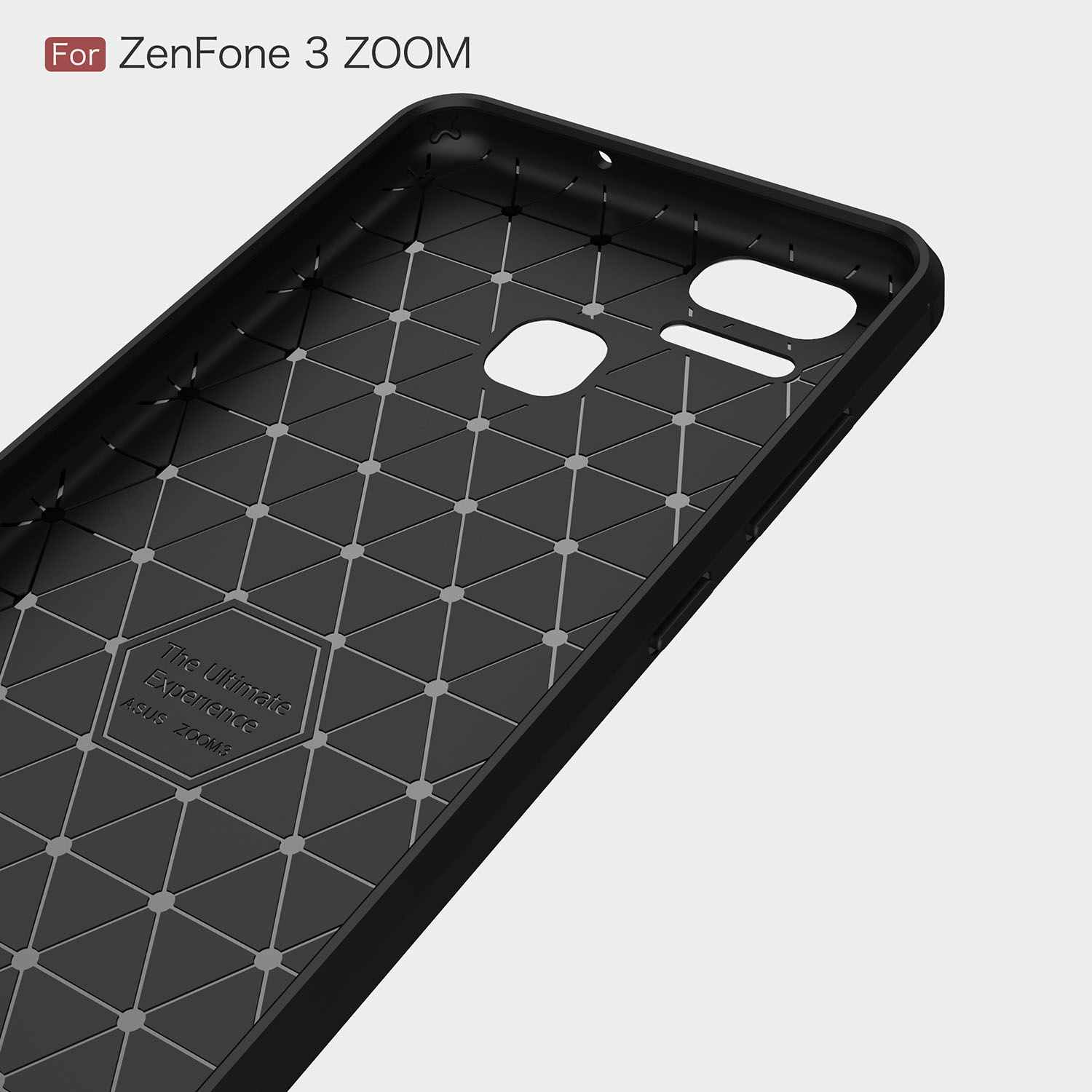 Bakeey Carbon Fiber Shockproof Silicone Back Cover Protective Case for ASUS ZenFone 3 Zoom ZE553KL