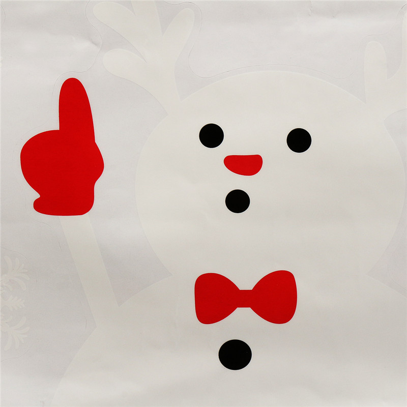 70CM Christmas Snow Man Glass Stickers Decor Room Removable Paper