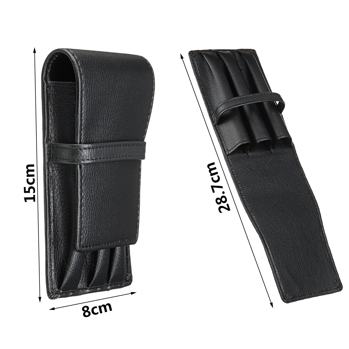 Fountain Pen Roller PU Leather Pouch Pen Case Holder Storage Bag For 3 Pens School Office Supplies