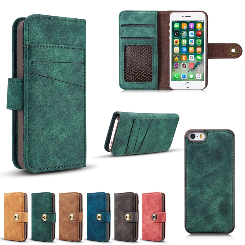Caseme Magnetic Detachable Wallet Case For iPhone 5 5s