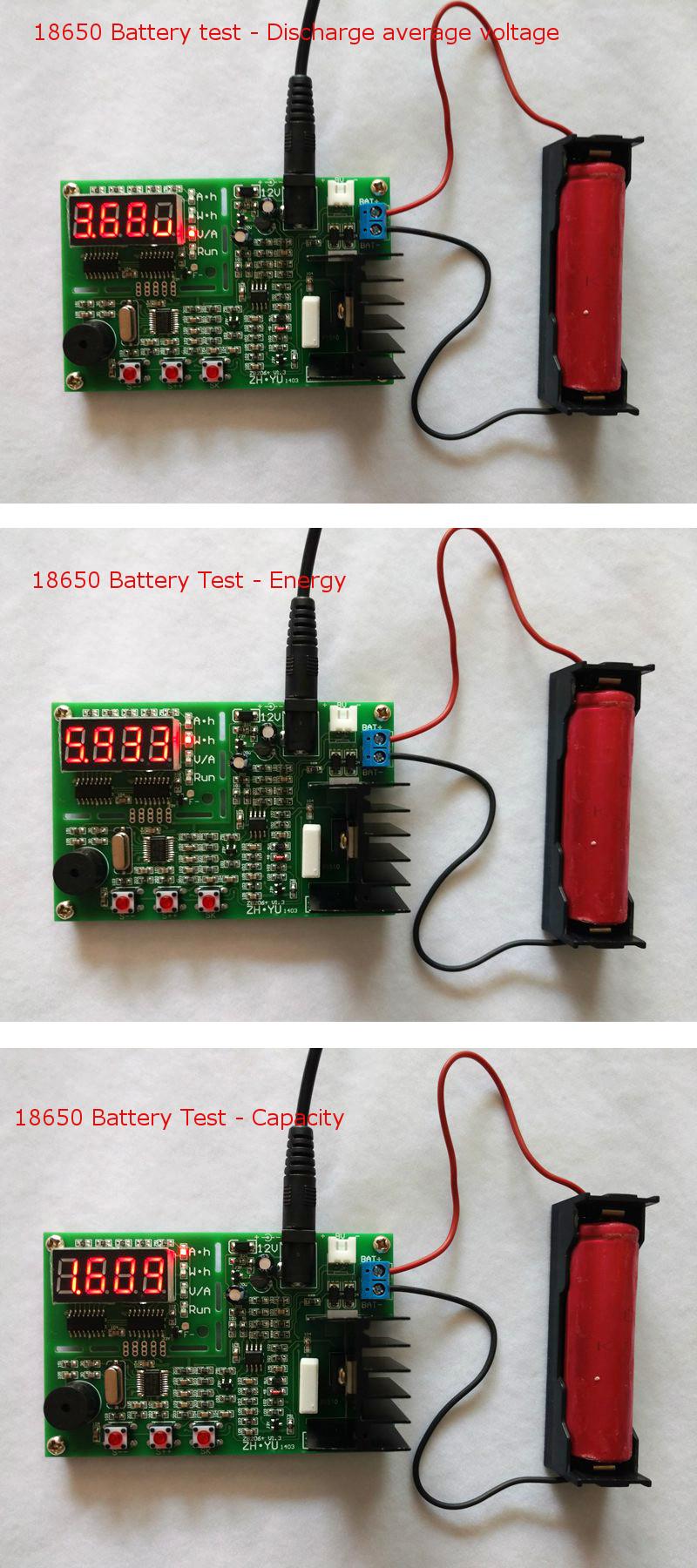 Original ZHIYU® ZB206 V1.3 Battery Capacity Tester Internal Resistance Test 18650 Lithium Battery Tester