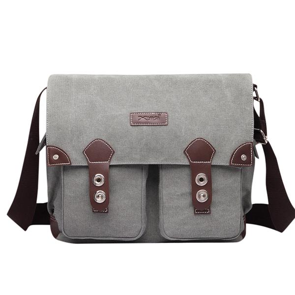 Men Retro Canvas Messenger Casual Crossboby Bag Laptop Shoulder Bag