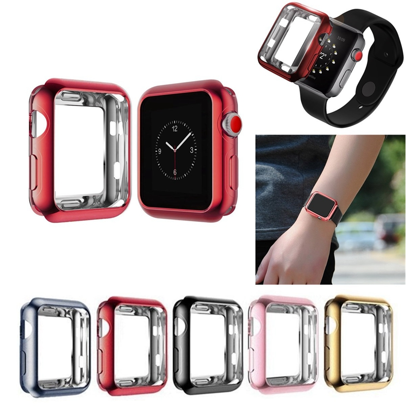 Plating Soft TPU Protective Case For Apple Watch Series