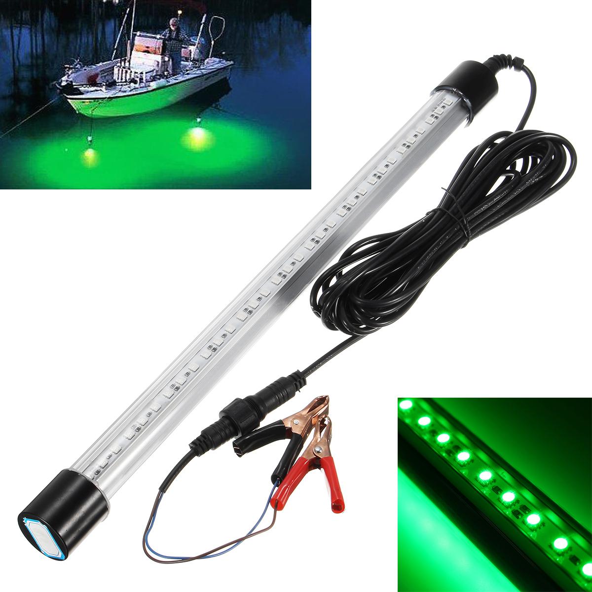 12V 60cm LED Green Fishing Light Underwater Submersible