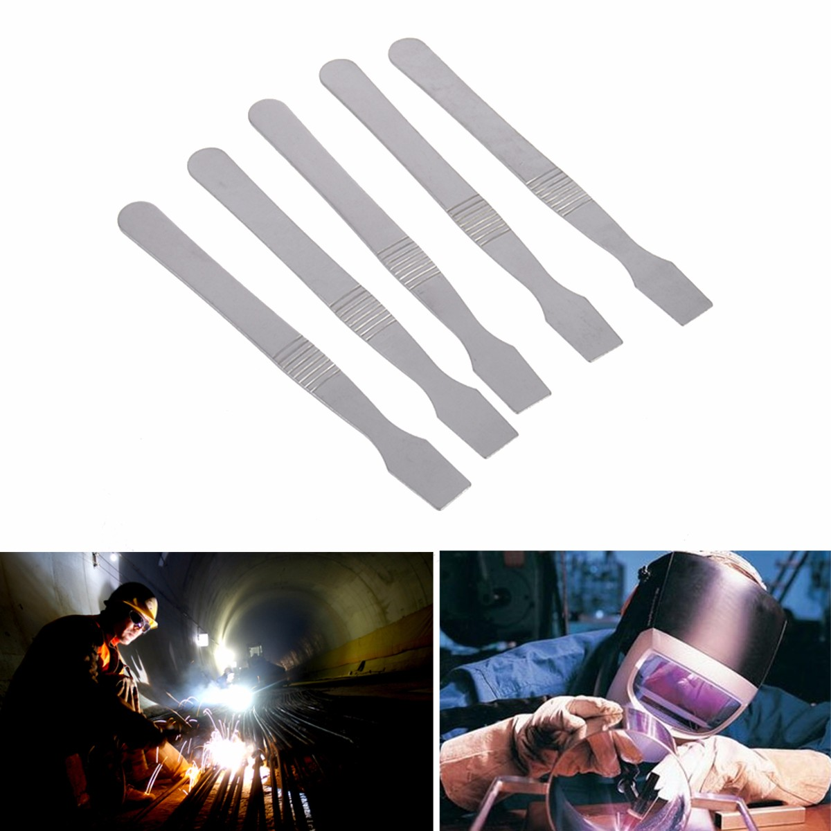 5pcs bga stainless steel solder scraper for soldering rework assist