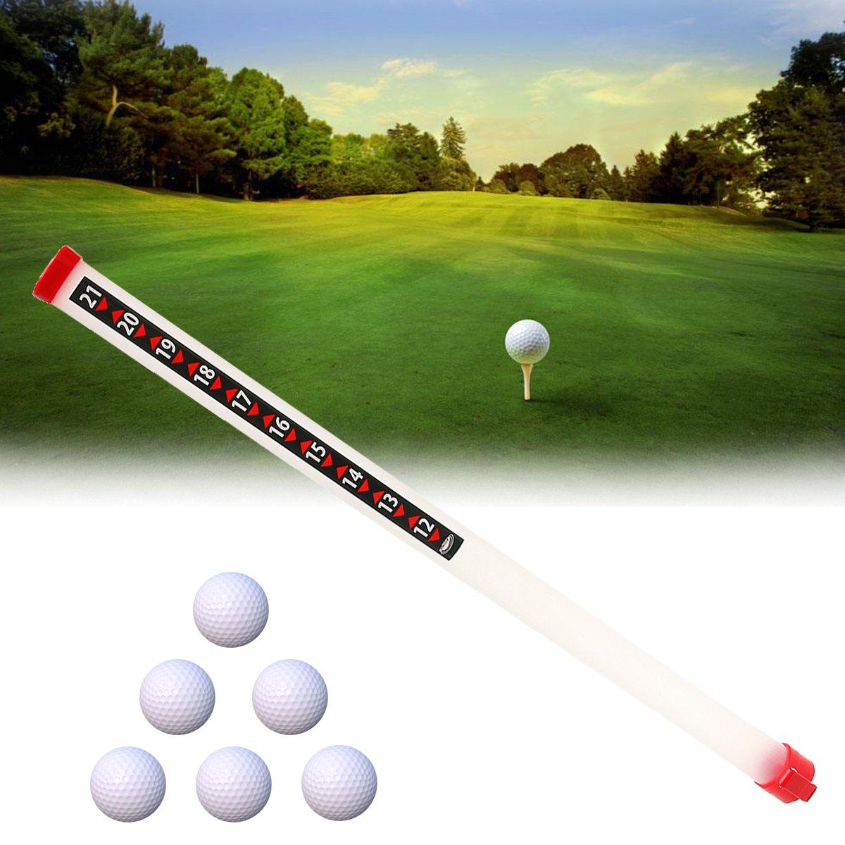Portable Outdoor Golf Ball Picker Sport Practice Shagger Pick-Ups Tube Retriever