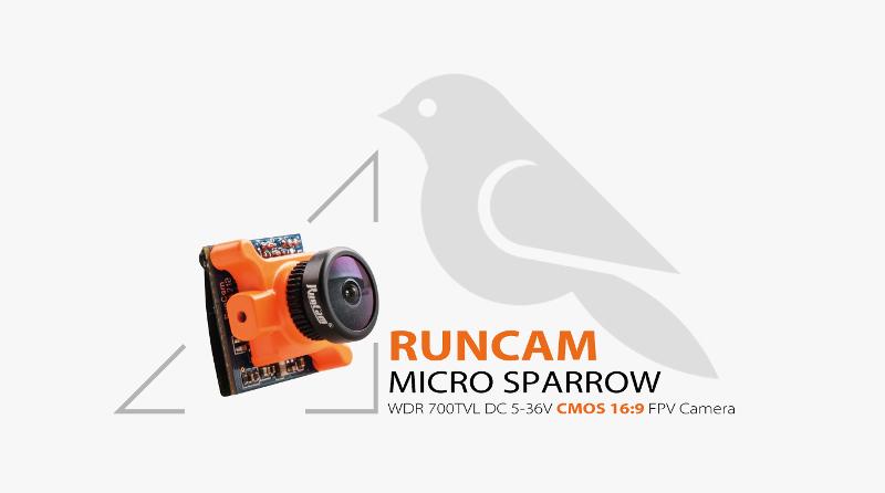 RunCam Micro Sparrow WDR 700TVL 2.1mm FOV 16:9 FPV Camera With DVR01 Mini FPV DVR Module