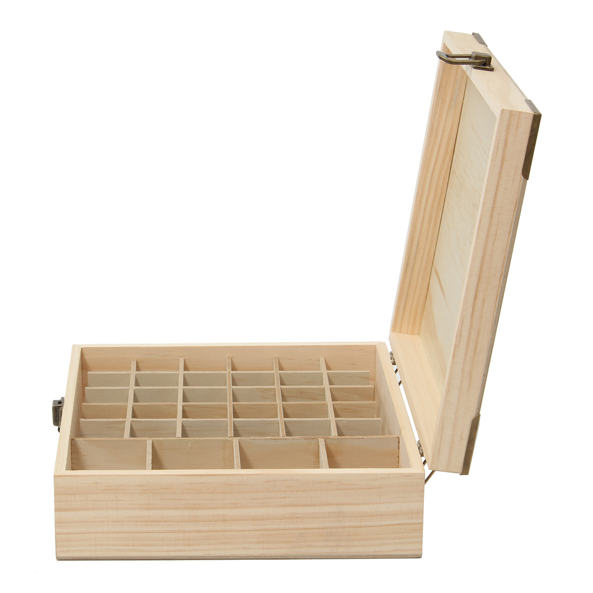 34 Grids Wooden Essential Oil Storage Container Box Case Perfume Essence Liquid Bottle Organizer