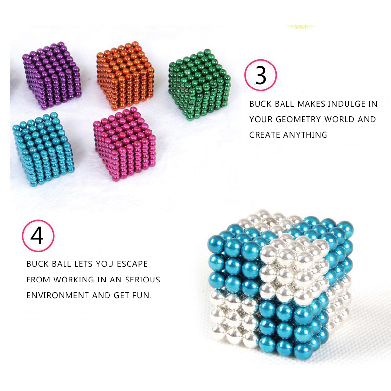 1000PCS Per Lot 5mm Magnetic Buck Ball Magnet Optional Colors Intelligent Stress Reliever Toy Gift