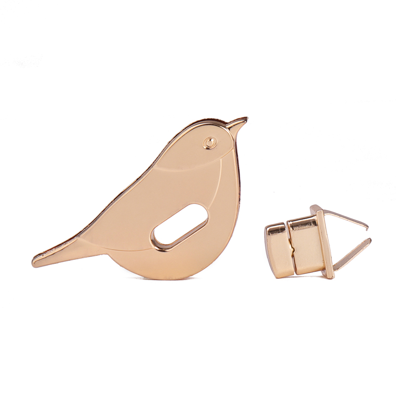 Zinc Alloy Leather Craft DIY Clasp Turn Twist Lock Bird Shape for Handbag Bag Purse