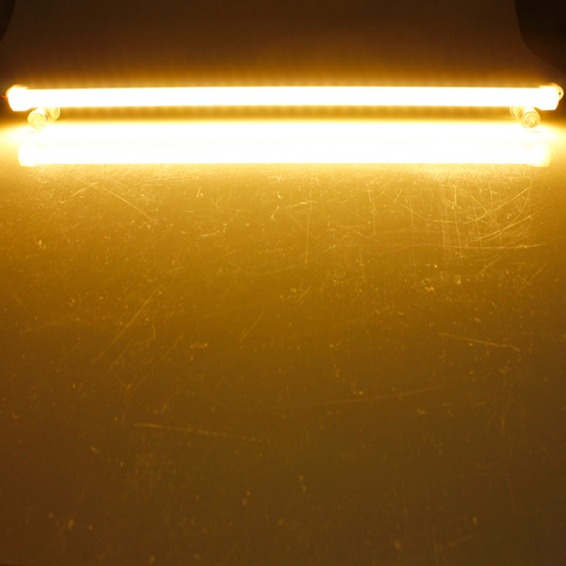 50CM 6.4W 5630 SMD Pure White Warm White Waterproof Hard LED Rigid Strip Bar Light With Cover DC12V