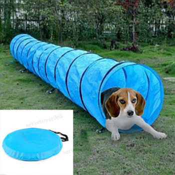 Pet Dog Agility Obedience Training Tunnel Pet Channel D