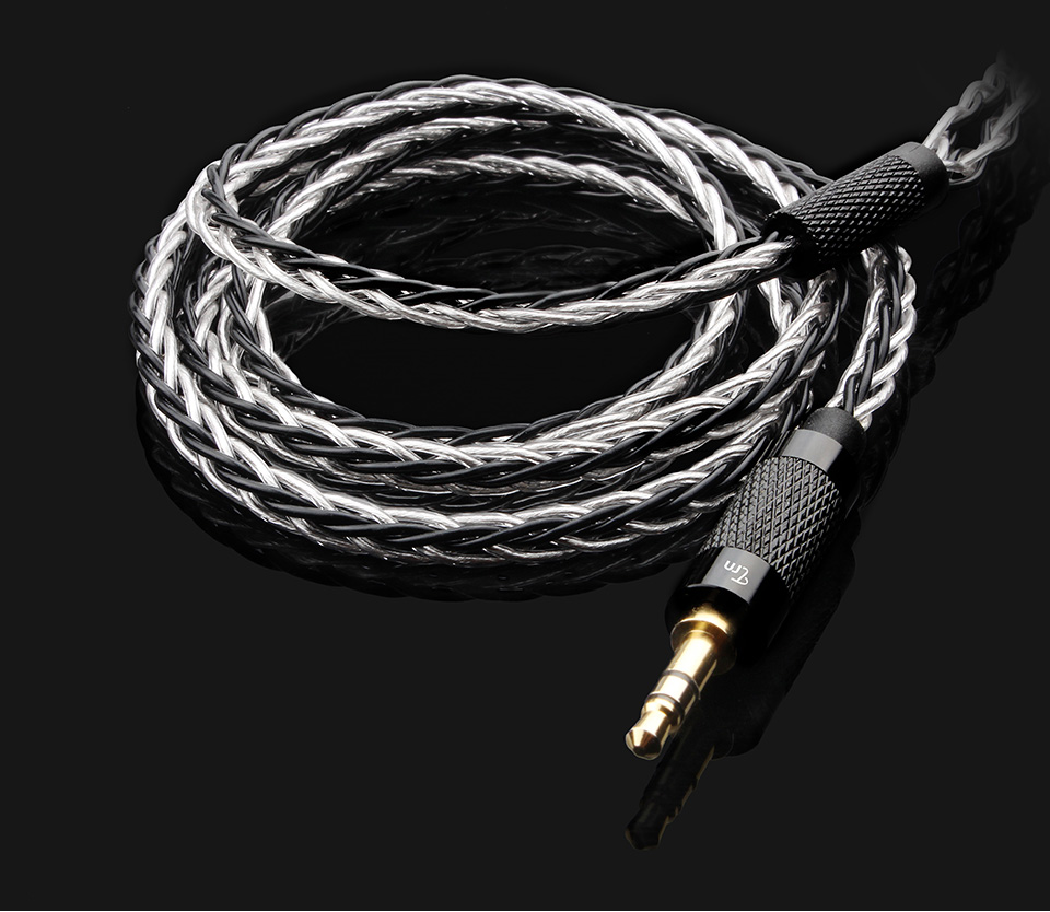 TRN Copper And Silver Mixed Updated Earphone Cable 2.5/3.5mm Balanced Cable With MMCX/2pin Connector