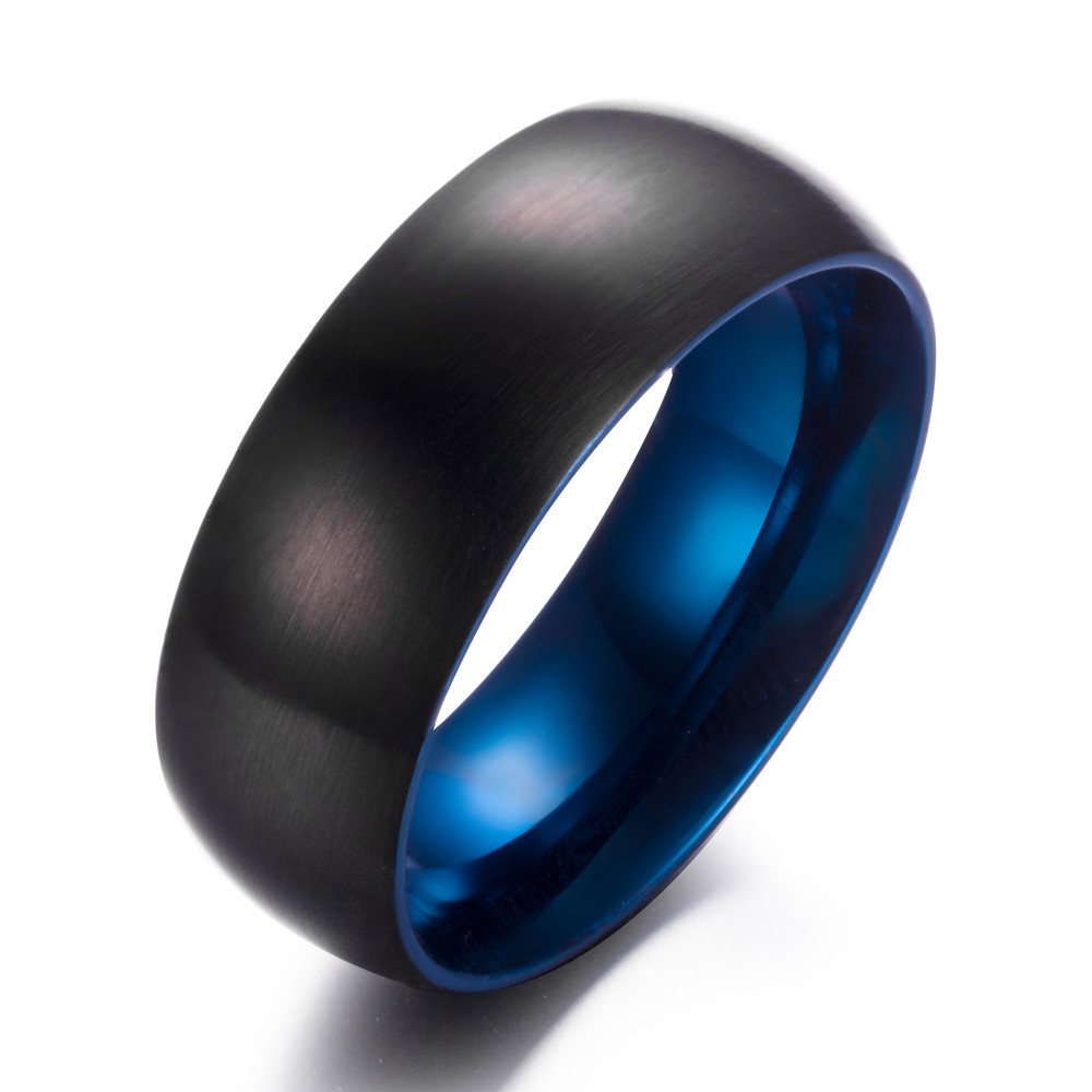 symbol sets wedding women bands unique lovely loyalty of steel best blue mens ring rings