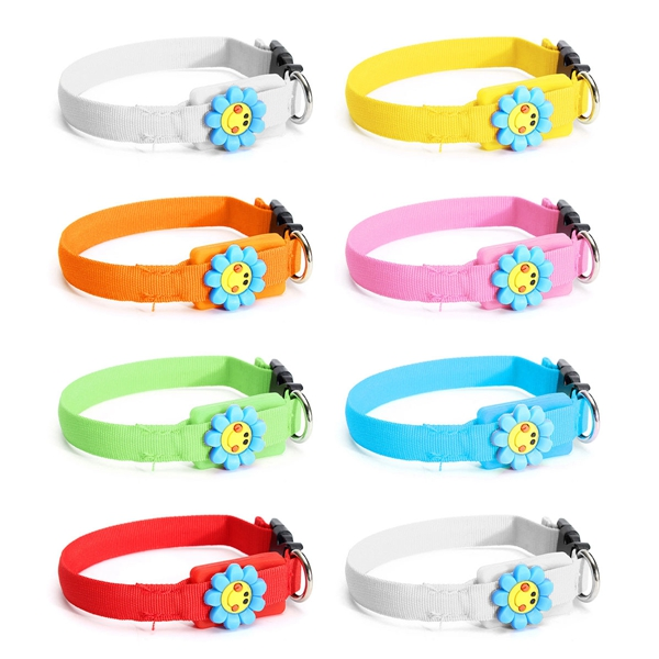 New Pet Collars Pet Dog Cat Waterproof LED Lights Flash Night Safety Nylon Adjustable Collar
