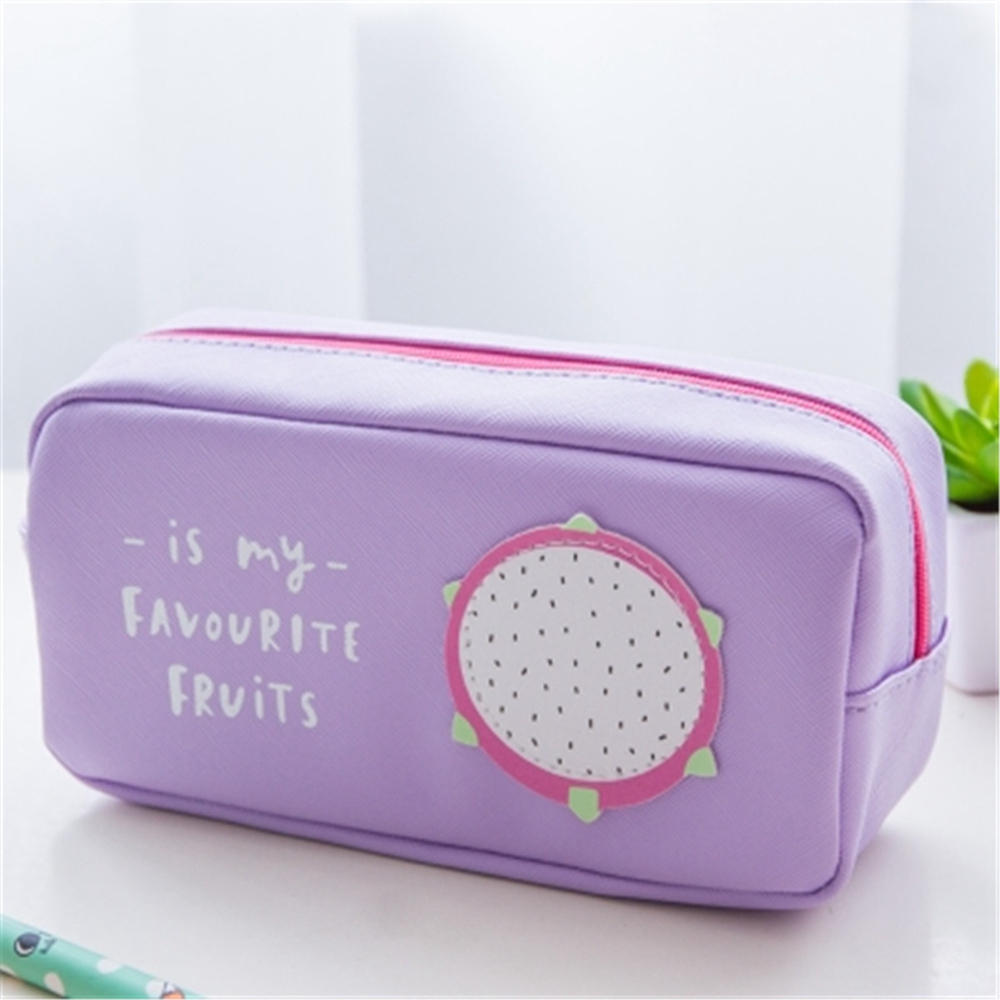 1Pcs Canvas Pencil Case Pen Holder Makeup Bag Stationery Pouch Bag Accessory Case For Students Gift