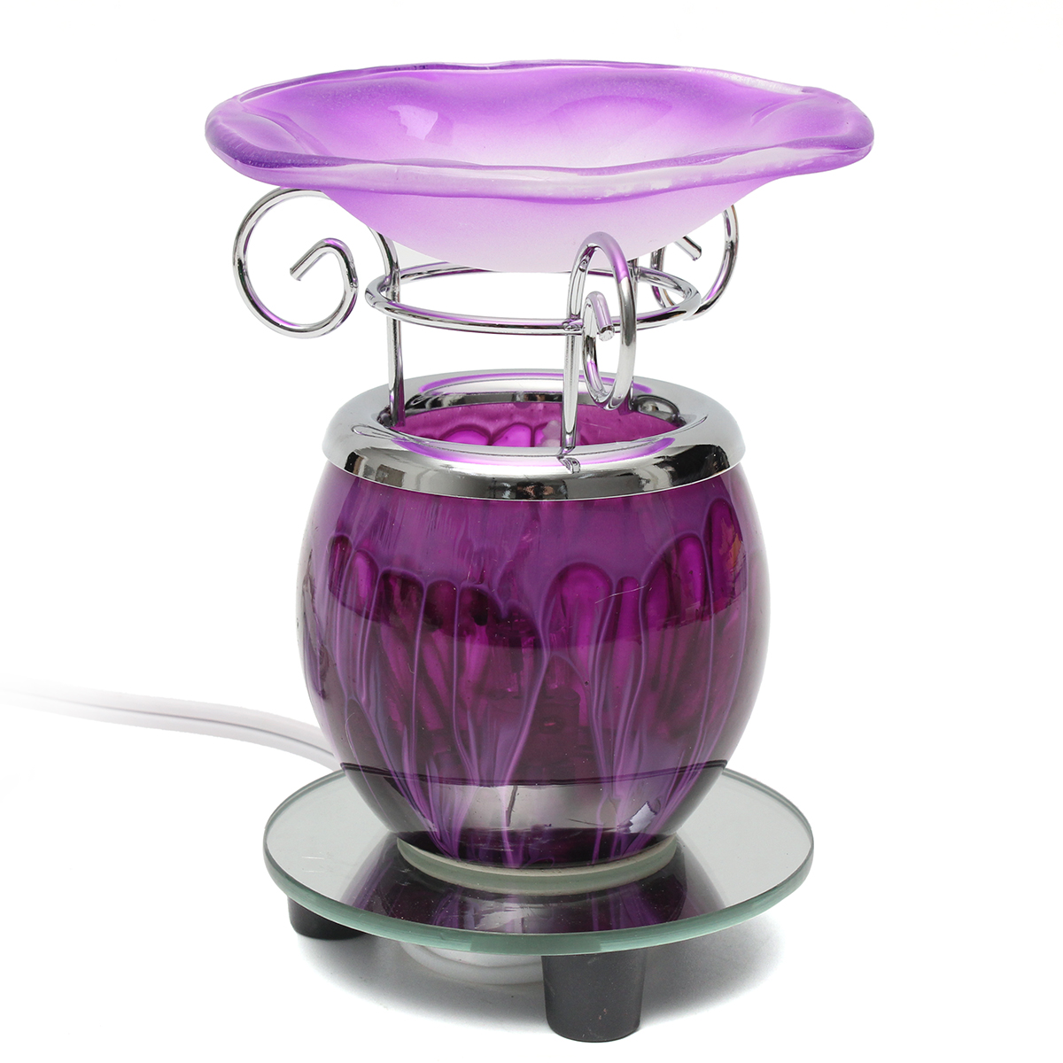 Purple Electric Scented Oil Warmer Lamp Wax With Bulb Burner Fragrance Lamp Diffuser