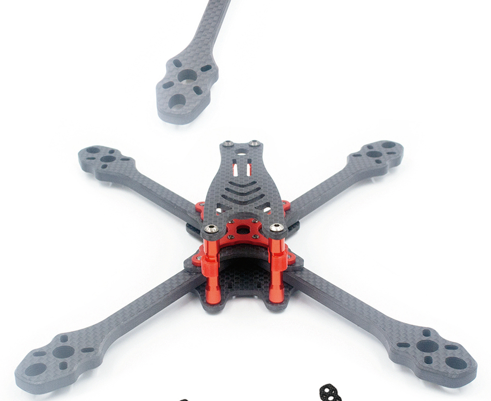 ALFA Monster 6mm Carbon Fiber 5/6/7inch FPV Freestyle Stretch X Quadcopter Frame Kit for RC Drone