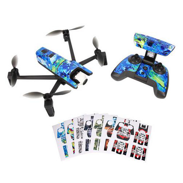 Waterproof Stickers DIY PVC Decal Skin Cover for Parrot Anafi Drone Body Remote Controller Battery